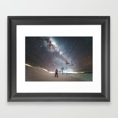 Lift me up to the stars Framed Art Print