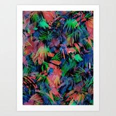 Palmtastic Black Art Print