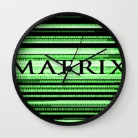 matrix Wall Clocks featuring Matrix by Svetlana Sewell