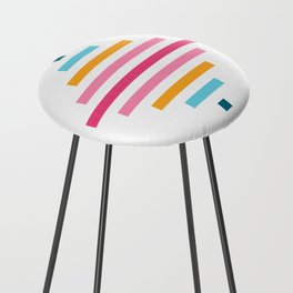 Spinning Top Quilt in Bright Counter Stool