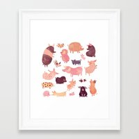 pig Framed Art Prints featuring Pig Pig Pig  by Chuck Groenink