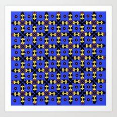 Beetles Pattern Art Print