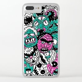 Monster Mash Clear iPhone Case