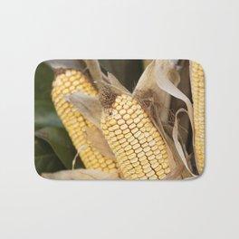 cobs and corn in the farm Bath Mat
