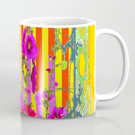 COLORFUL FANTASY PINK FLORAL PURPLE BUTTERFLIES GARDE Coffee Mug
