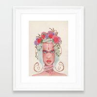 maori Framed Art Prints featuring Maori by Caly