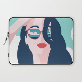 Vibrant Summer Woman Laptop Sleeve