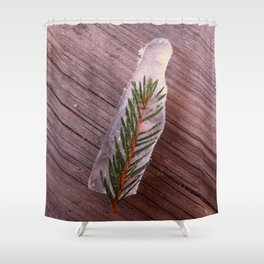 Green in Ice Shower Curtain