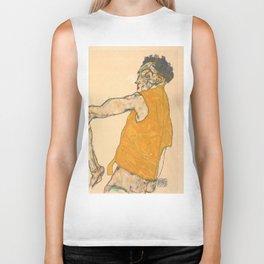 """Egon Schiele """"Self-Portrait in Yellow Vest"""" Biker Tank"""