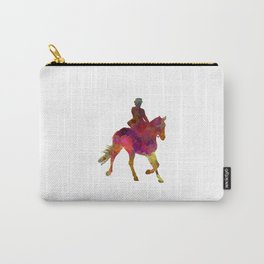 Horse show 03 in watercolor Carry-All Pouch