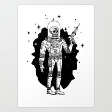 Intergalactic Bone Man Art Print