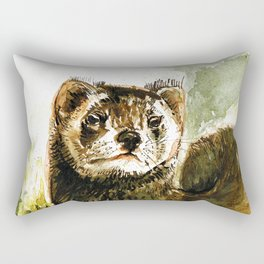 European Polecat Rectangular Pillow