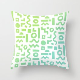 memphis brush 002 Throw Pillow