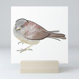 Scratchy Sparrow  Mini Art Print