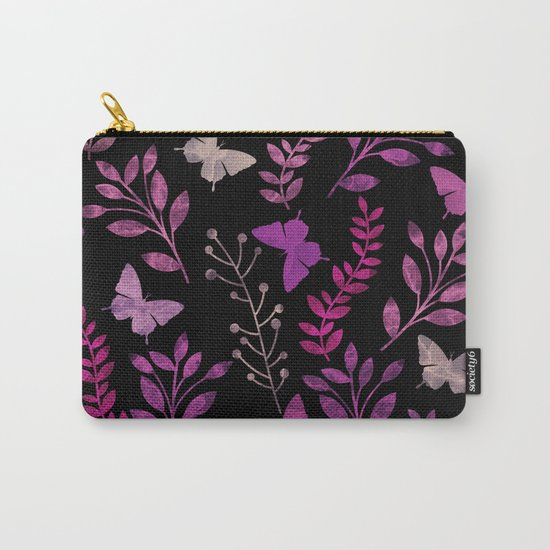 Watercolor flowers & butterflies III Carry-All Pouch