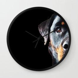 Rottie Love - Rottweiler Art By Sharon Cummings Wall Clock