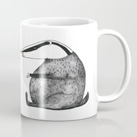 badger Mugs featuring Badger by Emma Jansson
