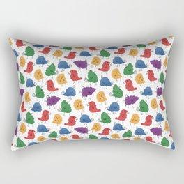 Doodle Birds Pattern Rectangular Pillow