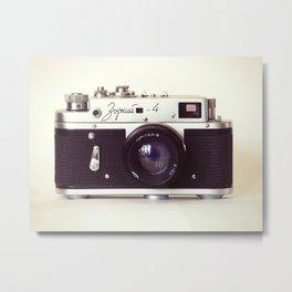 Zorki vintage camera Metal Print