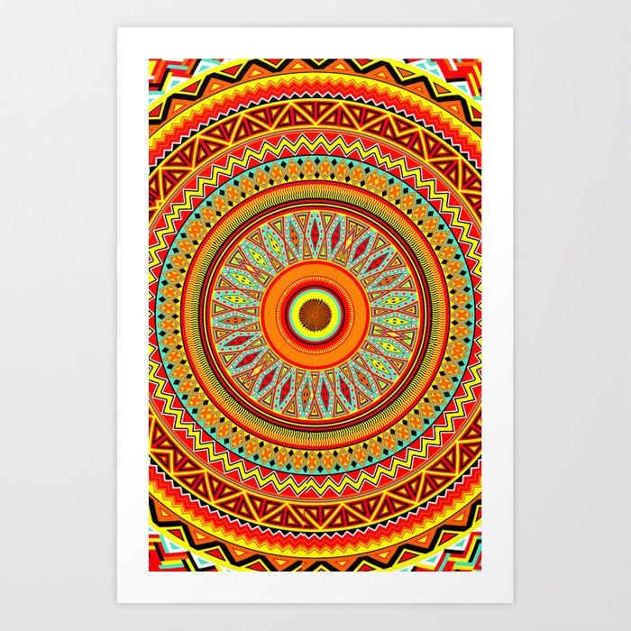 Mandala Aztec Pattern 5 Art Print by maximilian | Society6