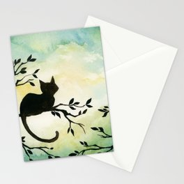 Lily Sitting in the Center of the Sky Stationery Cards