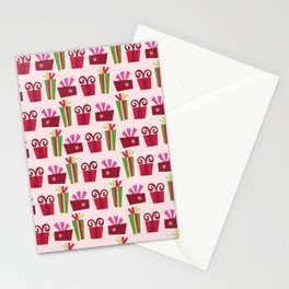 Colorful Christmas Presents Pattern Stationery Cards