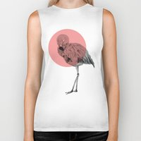 flamingo Biker Tanks featuring flamingo by morgan kendall