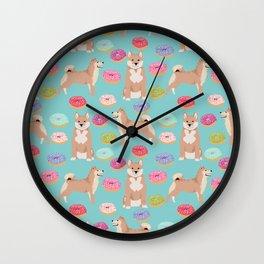 Shiba inu dog breed donuts pet gifts must have pure breeds shiba inus doughnuts Wall Clock