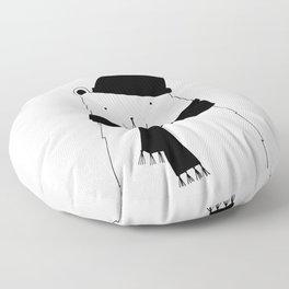 Scandinavian style bear art Floor Pillow