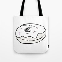 doughnut Tote Bags featuring Doughnut  by paintinpeyton