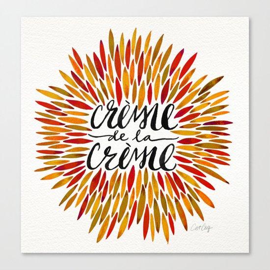Crème de la Crème – Autumn Palette Canvas Print