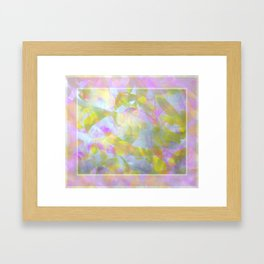Abstract in Shimmery Pastel Colors Framed Art Print