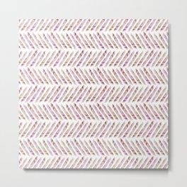 Beach Herringbone Metal Print