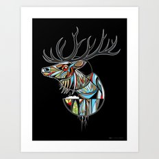 Wapiti Art Print