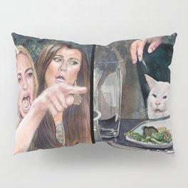 Woman Yelling at Cat Meme-3 Pillow Sham