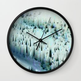 White Landscape / Snow Wall Clock