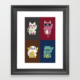 Adventure Time Lucky Cats Framed Art Print