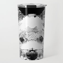 Black And White West Highland Terrier Dog Art Sharon Cummings Travel Mug