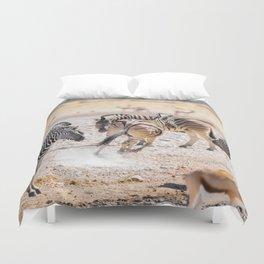 Zebras of Namibia Duvet Cover