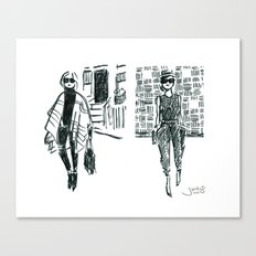 Brush Pen Fashion Illustration - East Coast West Coast Canvas Print
