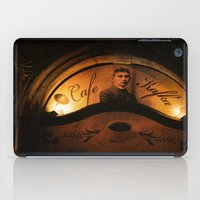 kafka iPad Cases featuring Cafe Kafka by Bella Blue Photography