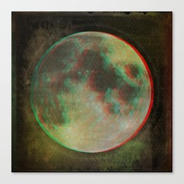Stereo Moon Canvas Print