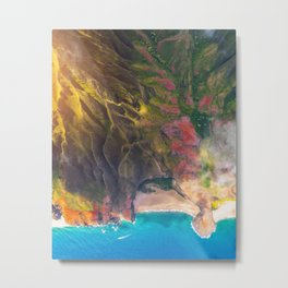 Sunset On The Beautiful Na Pali Coast Metal Print
