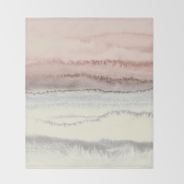 WITHIN THE TIDES - SNOW ON THE BEACH Throw Blanket