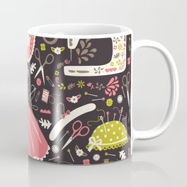 Vintage Sewing Coffee Mug