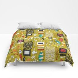 tiki yellow Comforters
