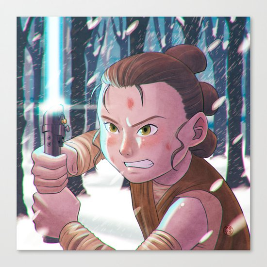 Use the force - Rey Tribute 2 Canvas Print