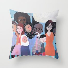 WHY AM I ME? SUBWAY SCENE Throw Pillow