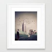 life aquatic Framed Art Prints featuring Life Aquatic by TRASH RIOT