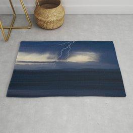 Stormy seascape Rug